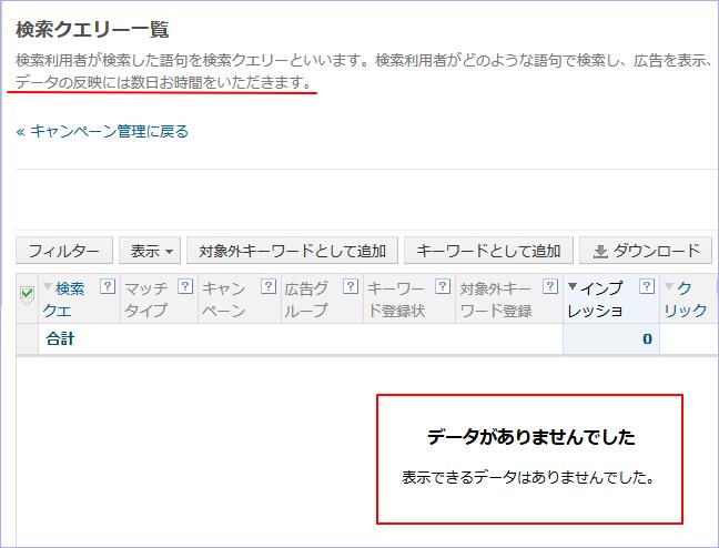 スポンサードサーチの「検索クエリー」情報を最速で確認する方法