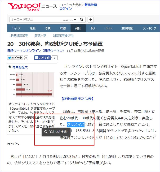 ヤフーニュースの「調べ物検索」機能について