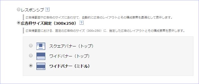 広告枠サイズ固定(300x250)